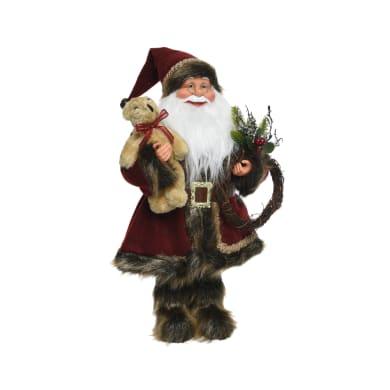 Babbo Natale in tessuto H 45 cm, L 24 cm  x P 14 cm