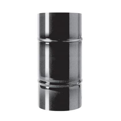 Tubo Tubo m.0,5 smaltato nero Dn 100 mm in acciaio al carbonio smaltato L 25 cm x Ø 100 mm