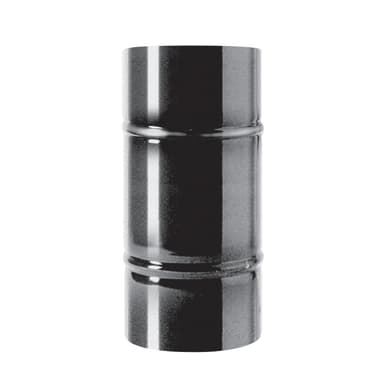 Tubo Tubo m.0,5 smaltato nero Dn 120 mm in acciaio al carbonio smaltato L 25 cm x Ø 120 mm
