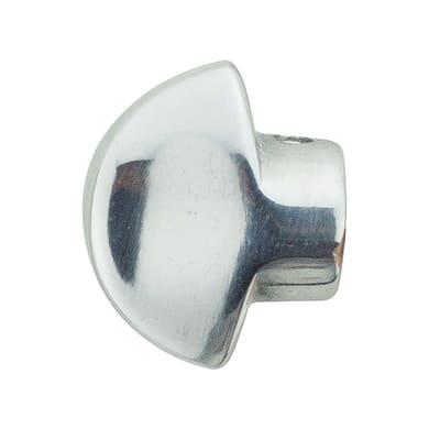 Pomolo blindato in alluminio lucido