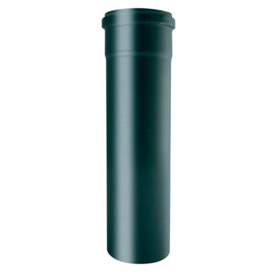 Tubo Pellet MP 1.2mm Smalt ner  in acciaio al carbonio smaltato L 50 cm x Ø 100 mm