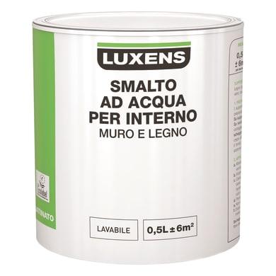 Vernice di finitura base acqua bianco satinato 0.5 L