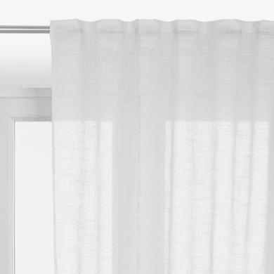 Tenda INSPIRE Amina bianco fettuccia con passanti nascosti 200 x 280 cm
