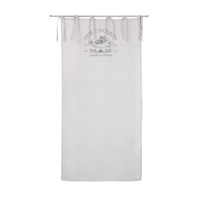 Tendina vetro Huile d'olive ecru lacci 80 x 160 cm