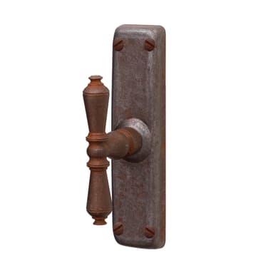 Maniglia per finestra Ruggine in ferro anticato