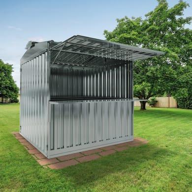 Chiosco in metallo Daikiri 1 ribalta c/mensola,  superficie interna 6.27 m² e spessore parete 0.4 mm