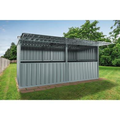 Chiosco in metallo Daikiri 2 ribalte,  superficie interna 12.7 m² e spessore parete 0.4 mm