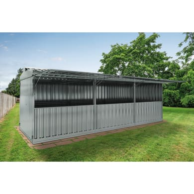 Chiosco in metallo Daikiri 3 ribalte,  superficie interna 19.13 m² e spessore parete 0.4 mm