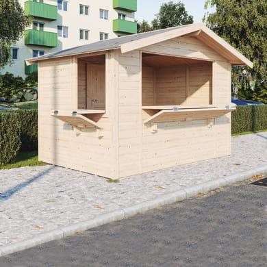 Chiosco in legno Spritz 2 ribalte 5.9 m² spessore 19 mm