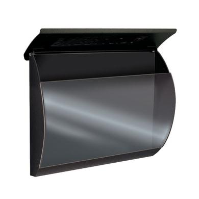 Cassetta porta pubblicità L 360 x P 110 x H 300 mm colore grigio / argento