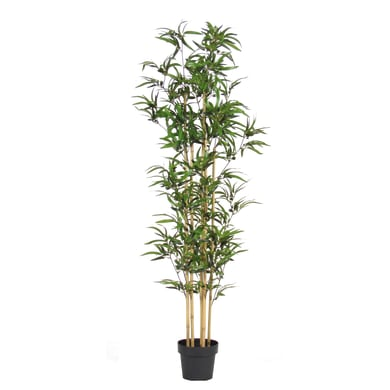 Pianta artificiale Bamboo in vaso H 165 cm