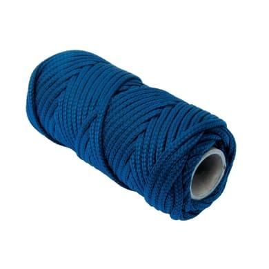 Corda a treccia in polipropilene L 20 m x Ø 3 mm blu