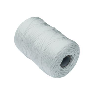 Corda a treccia in polipropilene L 100 m x Ø 2.5 mm bianco
