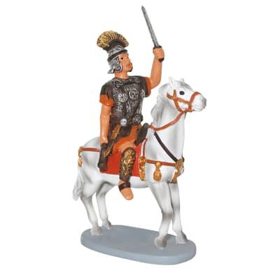 Soldato a cavallo in resina  H 10 cm