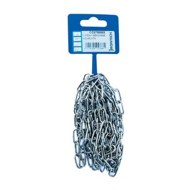 Catena STANDERS Genovese pretagliata maglia corta in acciaio L 2.5 m