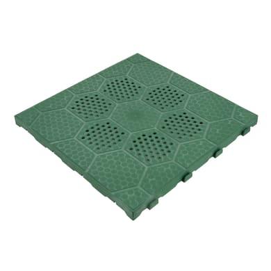 Piastrelle ad incastro 40 x 40 cm Sp 25 mm,  verde