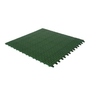 Piastrelle ad incastro Multiplate 56 x 56 cm Sp 10 mm,  verde