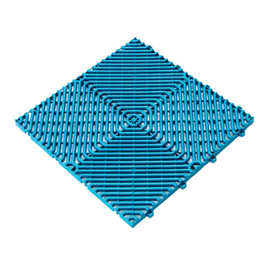 Piastrelle ad incastro Pool in polipropilene 39.5 x 39.5 cm Sp 18 mm,  blu