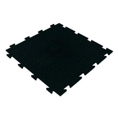 Piastrelle ad incastro Tecnic bolle in pvc 50 x 50 cm Sp 8 mm,  nero