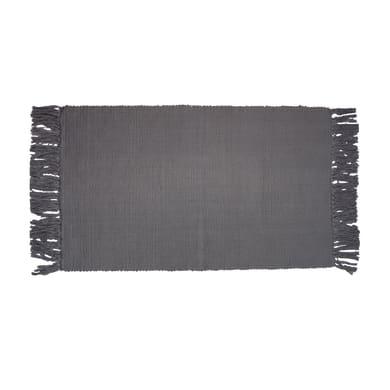 Tappeto Basick in cotone, grigio, 50x80 cm