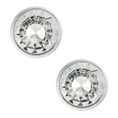 Pomolo in alluminio grigio / argento cromato Ø 27 mm