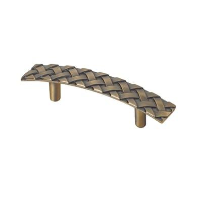 Maniglia per mobile in zama bronzato REI interasse 96 mm