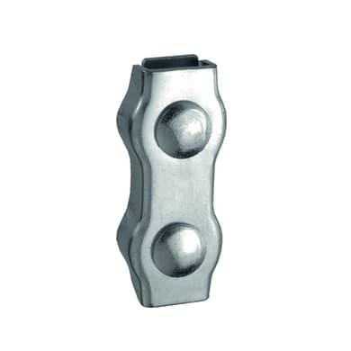 Morsetto duplex in acciaio