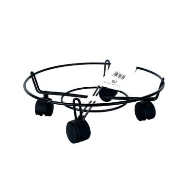 Supporto con rotelle per vaso in acciaio tondo H 10 cm,Ø 50 cm