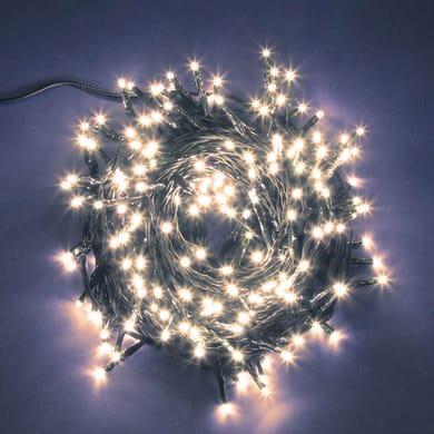 Catena luminosa 750 lampadine LED bianco caldo 400 cm