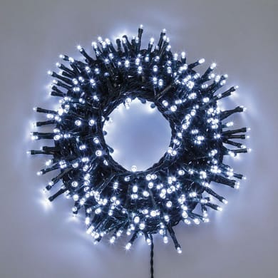 Catena luminosa 1500 lampadine LED bianco freddo 4 m
