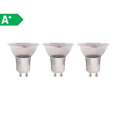 Lampadina LED GU10 faretto bianco naturale 5W = 460LM (equiv 50W) 100° LEXMAN, 3 pezzi