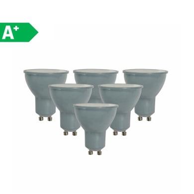 Lampadina LED GU10 faretto bianco naturale 6W = 450LM (equiv 50W) 100° LEXMAN, 6 pezzi