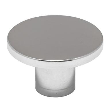 Pomolo in ottone grigio / argento Ø 30 mm 2 pezzi