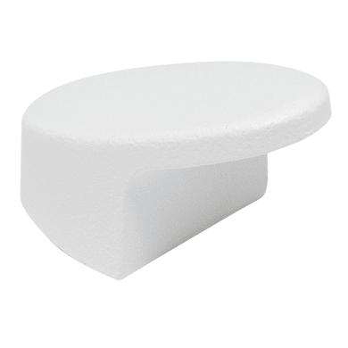 Pomolo in zama bianco Ø 20 mm 2 pezzi