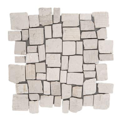Piastrella decorativa Quadropiatto H 30 x L 30 cm bianco