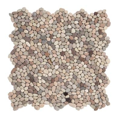 Piastrella decorativa Microsasso H 30 x L 30 cm multicolore
