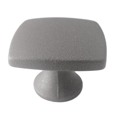 Pomolo in zama grigio / argento Ø 27 mm 2 pezzi