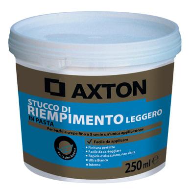 Stucco in pasta alleggerita AXTON 0.25 kg bianco
