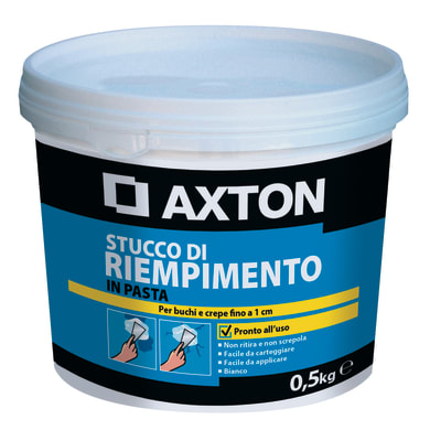 Stucco in pasta AXTON Riempitivo 500 g bianco