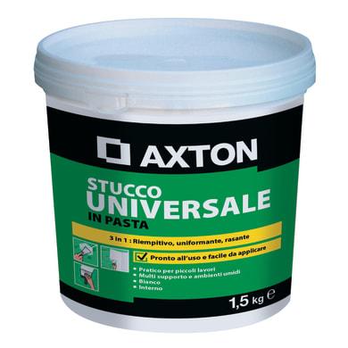 Stucco in pasta AXTON Universale 1.5 kg bianco