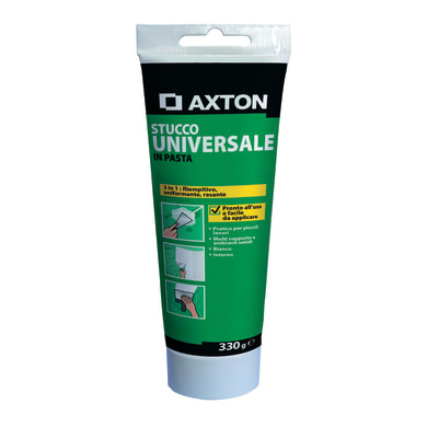 Stucco in pasta AXTON Universale 0.33 kg bianco