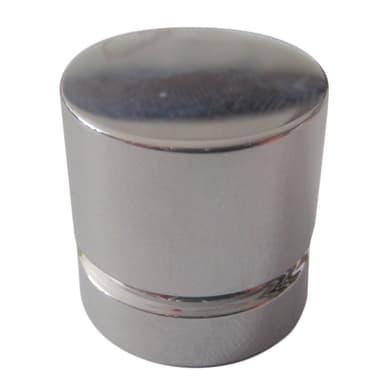 Pomolo in ottone grigio / argento Ø 20 mm 2 pezzi