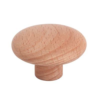 Pomolo per mobile in legno marrone naturale Ø 40 mm