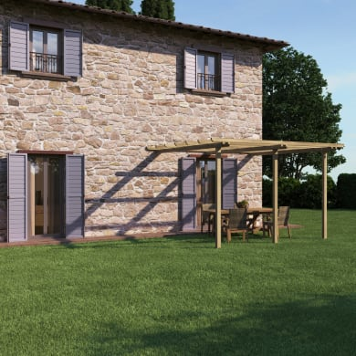 Pergola Orange in legno naturale L 390 x P 390 x H 240 cm