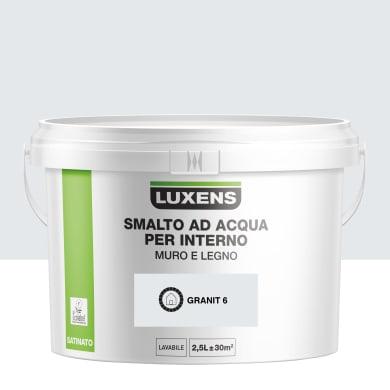 Vernice di finitura LUXENS Bimano base acqua grigio granito 6 satinato 2.5 L