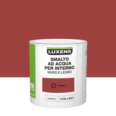 Smalto LUXENS Bimano base acqua rosso carmen 3 satinato 0.5 L