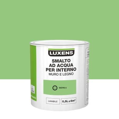 Vernice di finitura LUXENS Bimano base acqua verde esotico 5 satinato 0.5 L