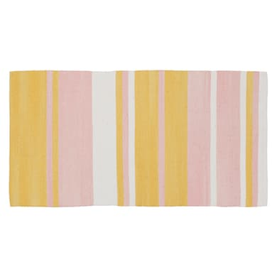 Tappeto Antibes in cotone, rosa, 50x110 cm