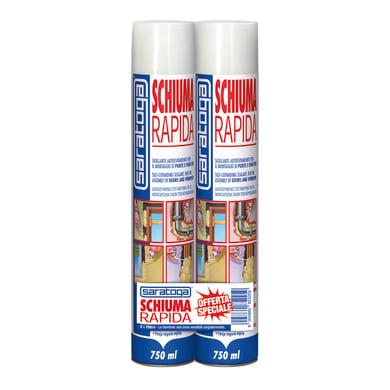 Schiuma poliuretanica bianco per porta 2 x 0,75 ml