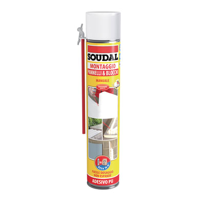 Schiuma poliuretanica SOUDAL Pannelli e blocchi rame per pannello 0,6 ml